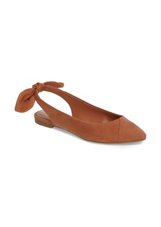 BCBG Mara Bow Pointy Toe Flat (Women)
