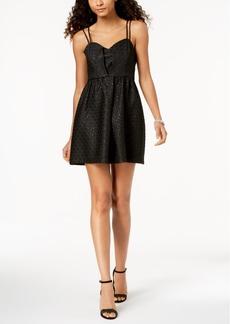 Bcbg Metallic Jacquard Fit & Flare Dress