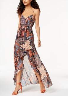 Bcbg Printed High-Low Maxi Dress