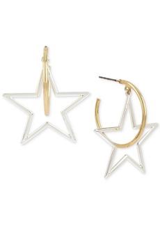 Bcbg Two-Tone Star & Hoop Drop Earrings