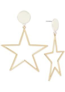 Bcbg Two-Tone Star Drop Earrings