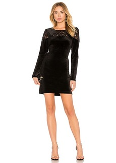 BCBGeneration A Line Dress In Black Combo in Black. - size L (also in M,S,XS)