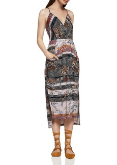 BCBGeneration Abstract Dot Faux Wrap Midi Dress