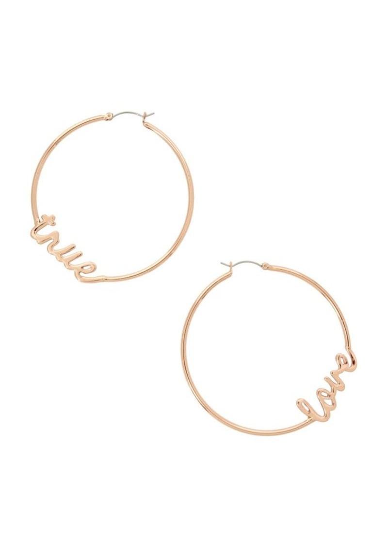 Bcbgeneration Affirmation True Love Hoop Earrings