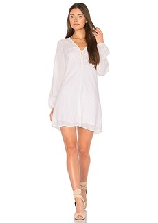 BCBGeneration Airy Button Dress in White. - size M (also in S,XS)