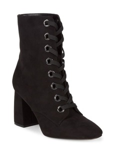 BCBGeneration Alexa Velvet Lace-Up Booties