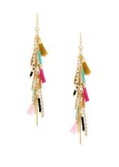 BCBGeneration Angeleno Crystal Colorful Tassel Fringe Earrings