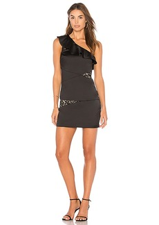 BCBGeneration Asymmetrical Dress In Black in Black. - size 0 (also in 2,4,6,8)