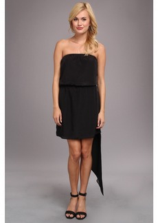 BCBGeneration Asymmetrical Hem Strapless Dress