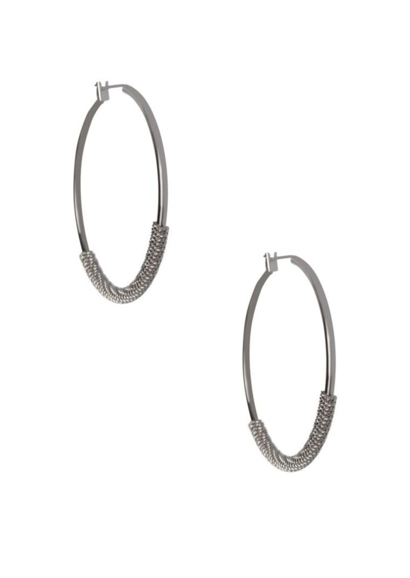 BCBG BCBGeneration Basic Wire Hoop Earrings/1.8\