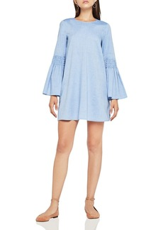 BCBGeneration Bell Sleeve Chambray A-Line Dress