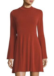 BCBGeneration Bell-Sleeve Jersey Dress