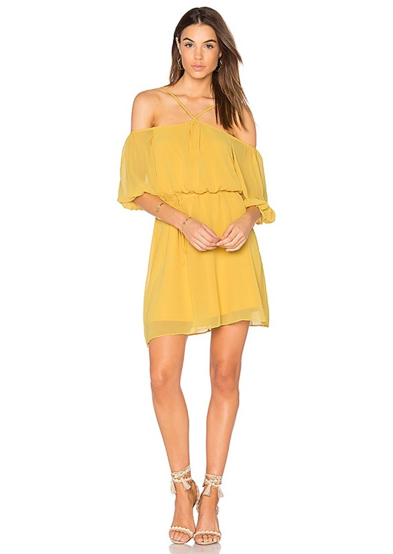 BCBGeneration Blouson Dress in Yellow. - size M (also in S,XS)