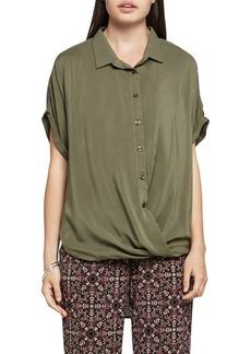 BCBGeneration Button-Up Wrap Shirt