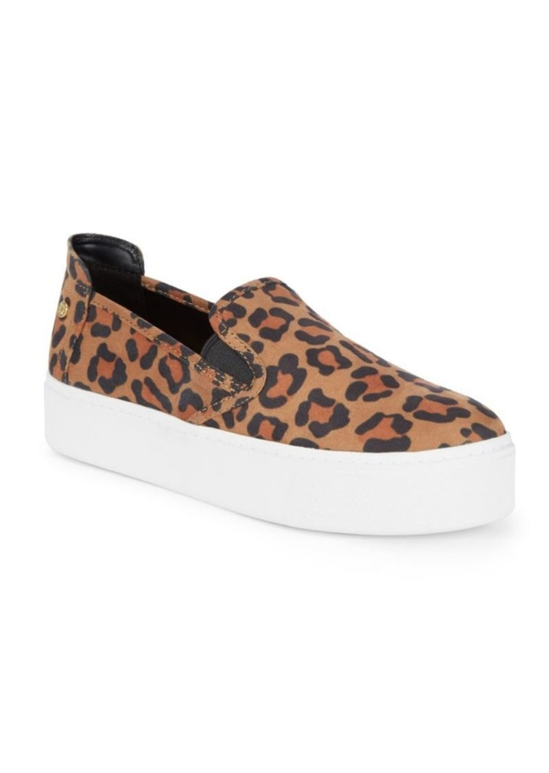 23c1aac71a4b BCBG Casey Leopard Microsuede Sneakers Now  29.99