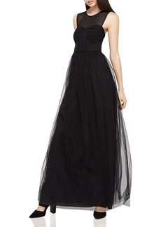 BCBGeneration Chiffon & Tulle A-Line Gown