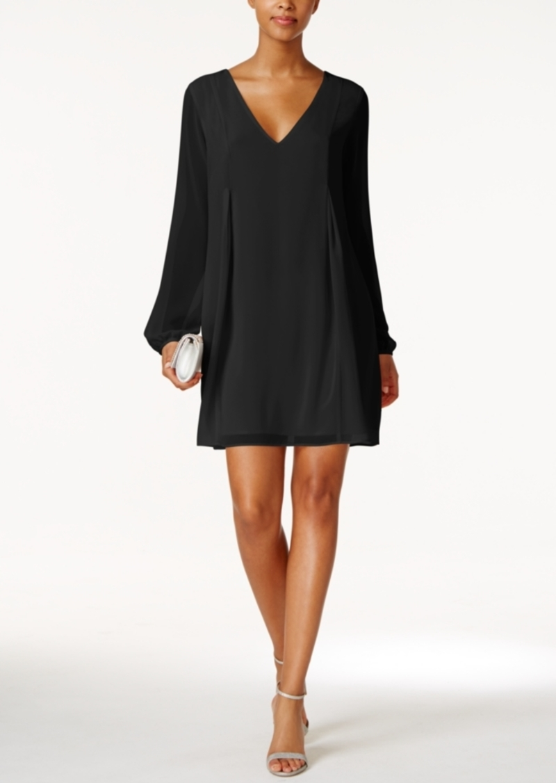 bcbgeneration black chiffon cocktail dress