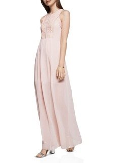 BCBGeneration Chiffon Lace Gown