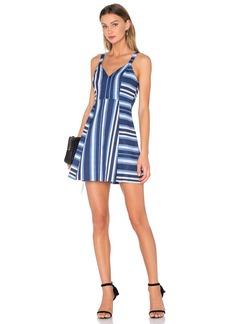 BCBGeneration Cocktail Striped V Neck Dress