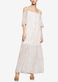 BCBGeneration Cold-Shoulder Tiered Maxi Dress