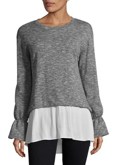 BCBGeneration Contrast Bell Sleeve Top