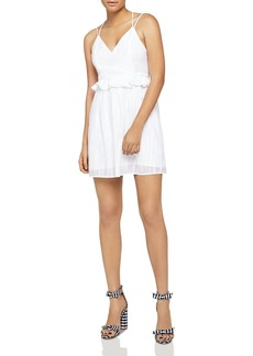 BCBGeneration Crisscross Peplum Dress
