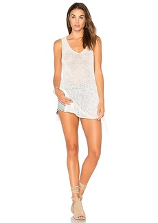 BCBGeneration Crochet Drawstring Tank in White. - size L (also in XS,S,M)
