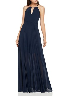 BCBGeneration Crossover-Bodice Pleated Maxi Dress