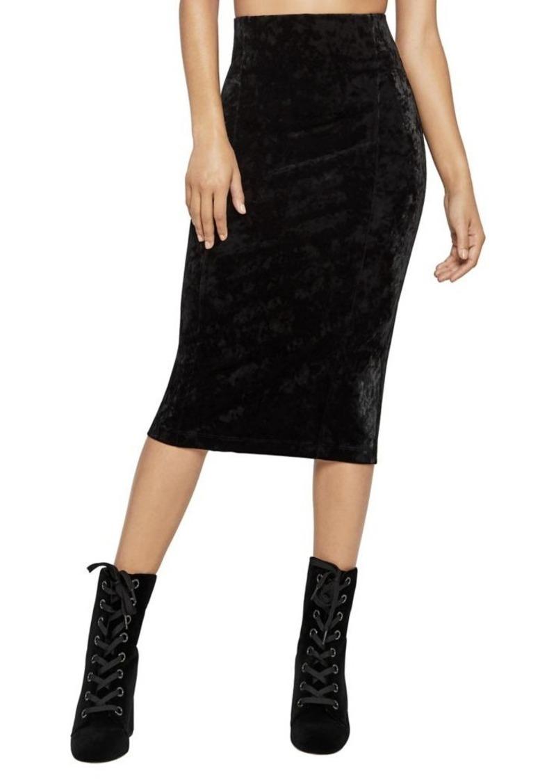 22beadcbb SALE! BCBG BCBGeneration Crushed Velvet Corset Pencil Skirt