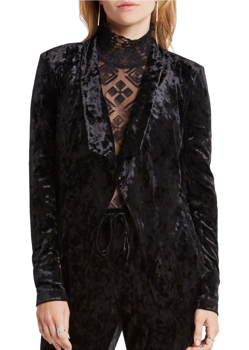 BCBGENERATION Crushed Velvet Drape Jacket
