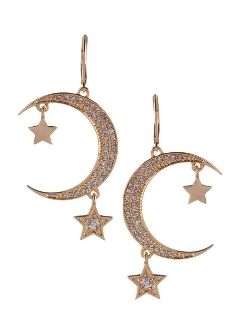 Bcbgeneration Cubic Zirconia Star And Moon Earrings