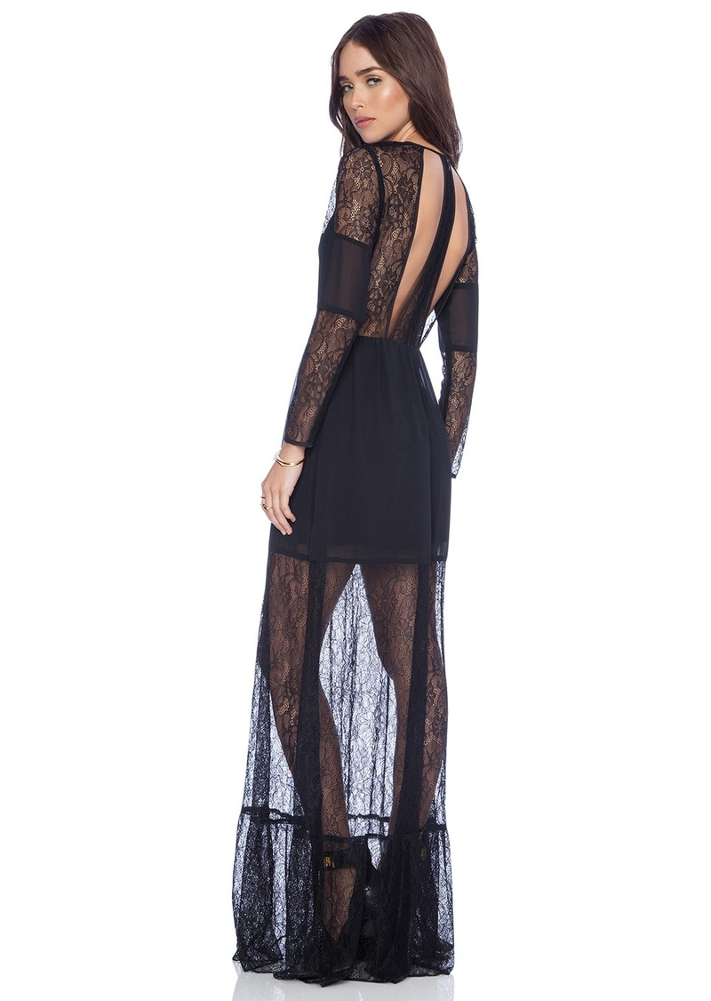 BCBGeneration Cut Out Lace Maxi Dress