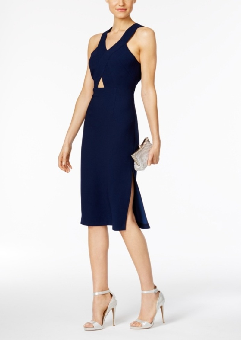 BCBG BCBGeneration Cutout Crepe Midi Dress   Dresses