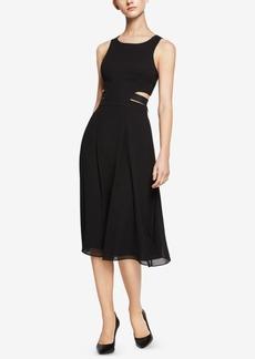 BCBGeneration Cutout Self-Tie Midi Dress