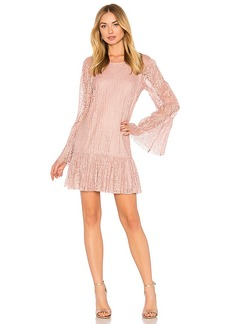 BCBGeneration Double Tiered Dress In Rose Smoke in Pink. - size L (also in M,S,XS)