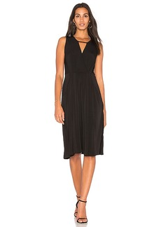 BCBGeneration Drape Midi Dress in Black. - size L (also in M,S,XS)