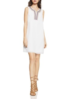 BCBGeneration Embroidered Chiffon A-Line Dress