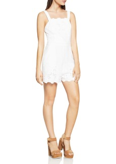 BCBGeneration Embroidered Lace Overall Romper