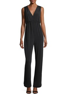 BCBGeneration Empire-Waist Crepe Jumpsuit