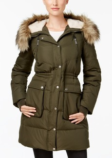 BCBGeneration Faux-Fur-Trim Down Puffer Coat