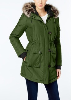 BCBGeneration Faux-Fur-Trim Hooded Puffer Parka