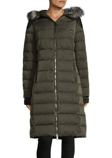 BCBGeneration Faux Fur-Trimmed Down Coat