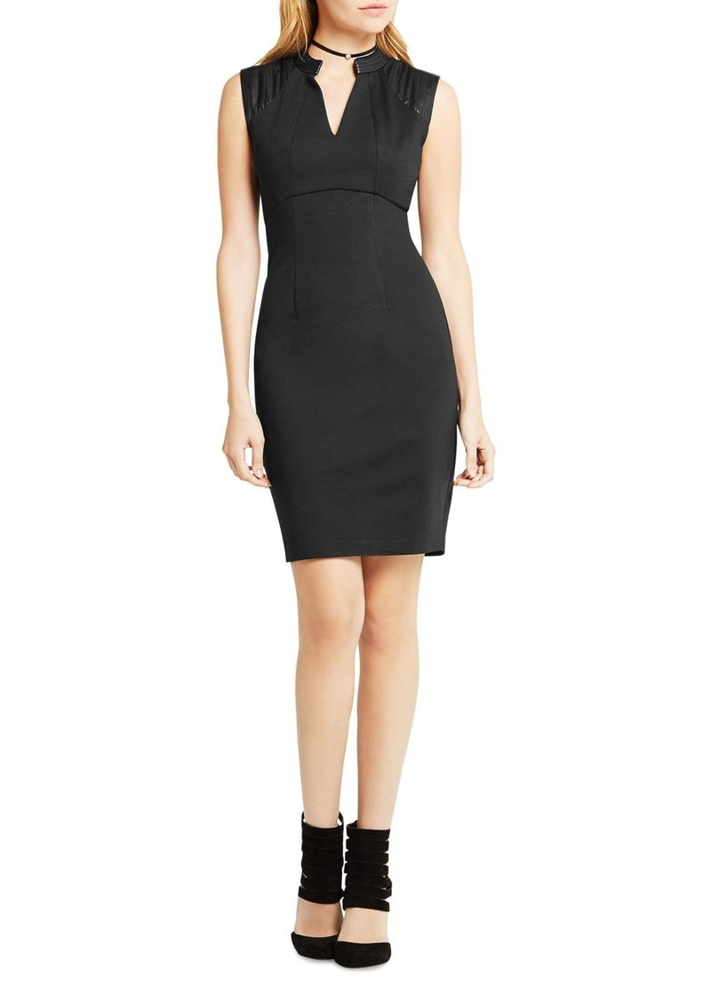 BCBGeneration Faux Leather Detail Dress