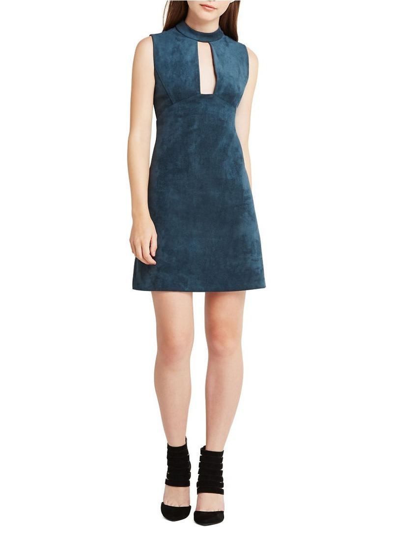 BCBGENERATION Faux-Suede Sleeveless Shift Dress