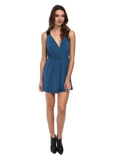 BCBGeneration Faux Wrap Dress w/ Contrast Straps YDM64C47