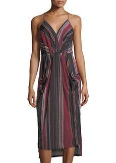 BCBGeneration Faux-Wrap High-Low Dress