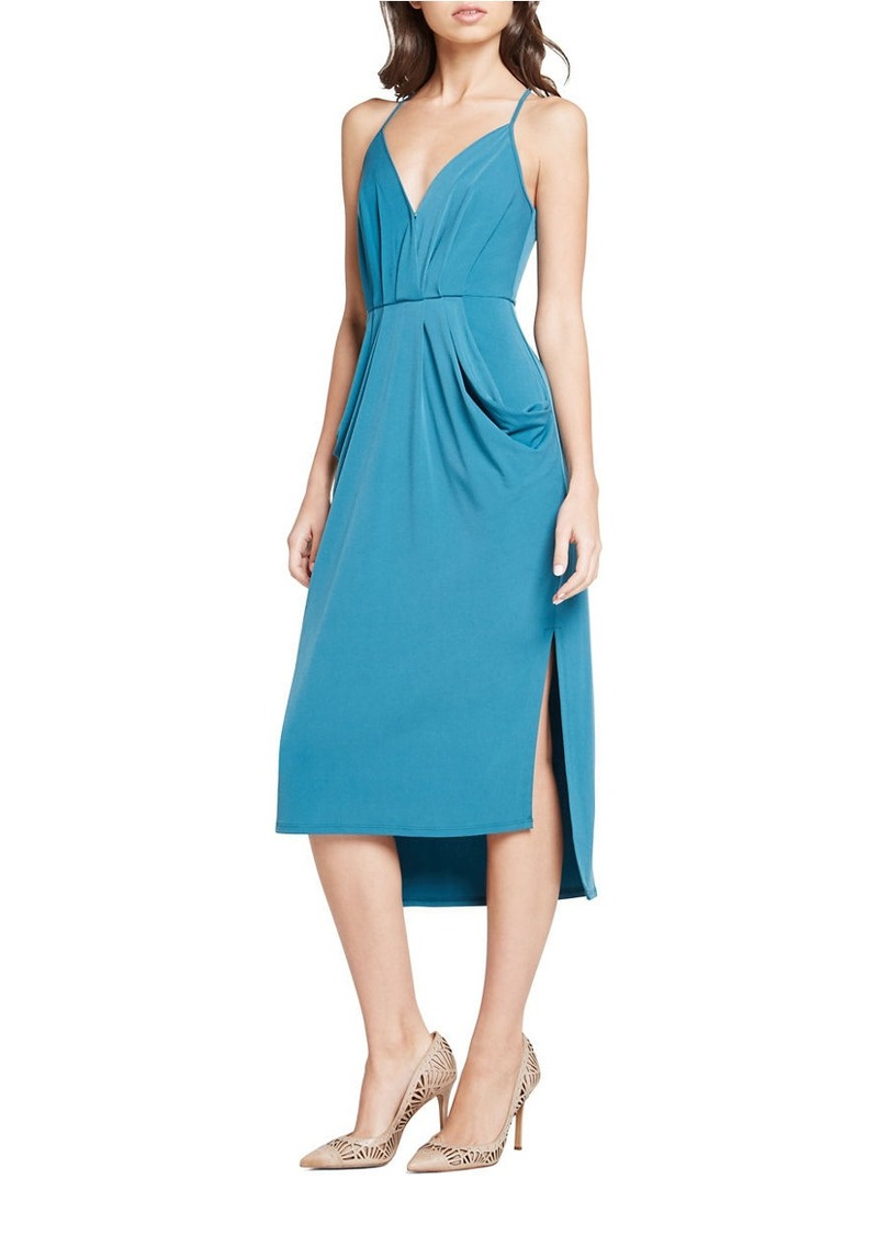 BCBG BCBGENERATION Faux-Wrap Midi Dress | Dresses