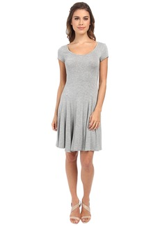 BCBGeneration Fit and Flare Short Sleeve Dress