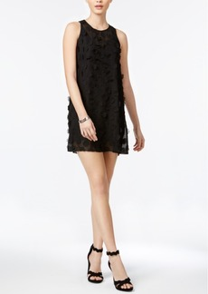 BCBGeneration Floral-Applique Chiffon Shift Dress