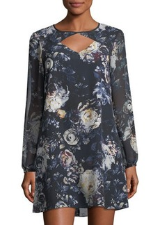 BCBGeneration Floral Cutout Shift Dress